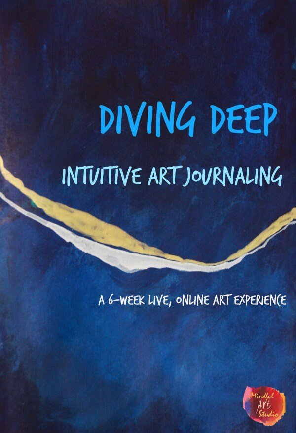 Intuitive art journaling, art journaling class