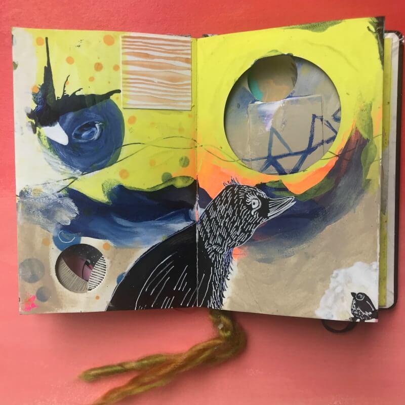 collaborative art journal, shared art journal, art journaling inspiration