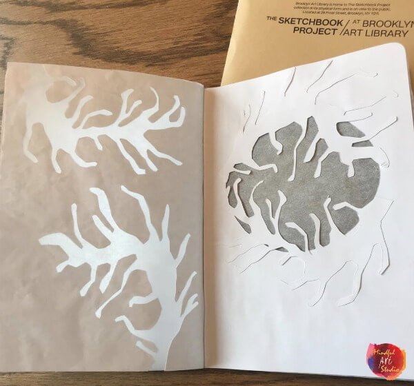 The Sketchbook Project, paper cutting art, paper cutting journal