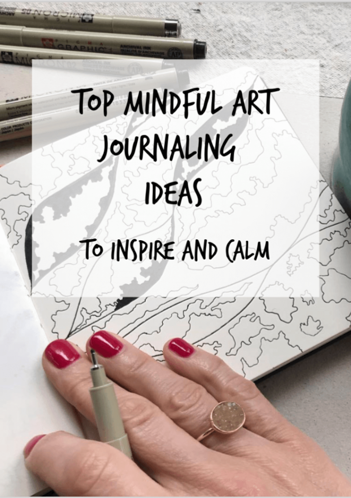 mindful art journaling ideas, mindful art journaling activities, mindful art classes, mindful drawing, mindfulness and art, mindful art projects, mindful art journaling