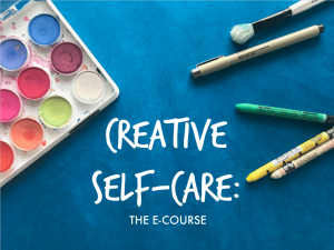 free art journaling class, art journaling class, creative self-care ideas, art journaling ideas