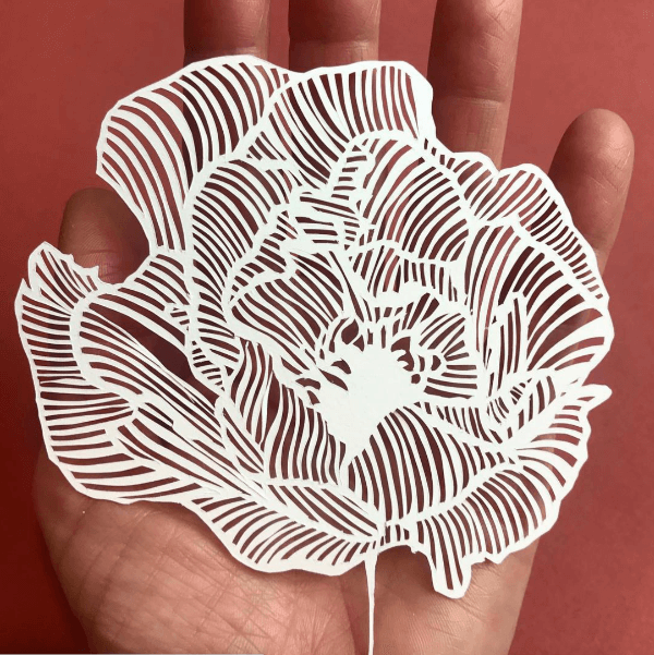 Paper Cut art, Paper cutting art, intuitive art, mindful art, mindful paper cutting