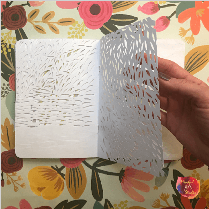 Paper cut art journal, paper cutting ideas, paper cutting techniques