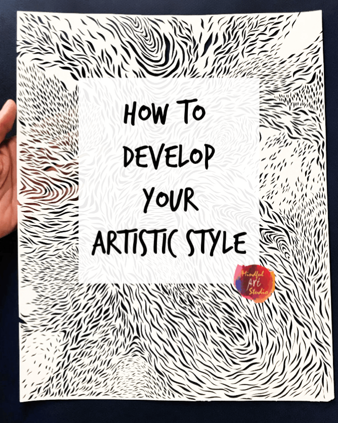 how to find your art style, how to develop your artistic style, how to find your style as an artist, paper cut patterns, paper cut ideas
