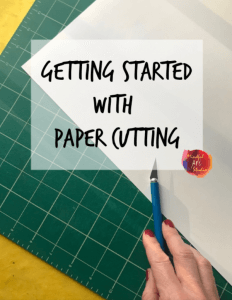 paper cutting basics, how to paper cut, paper cutting supplies, how to start paper cutting
