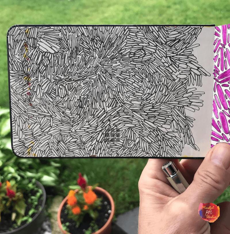mindful art, mindful art ideas, pattern art