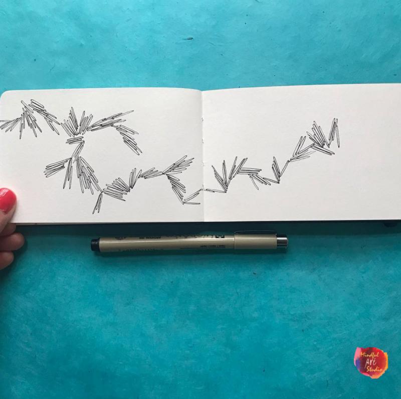 mindful art, mindful art ideas, how to make mindful art