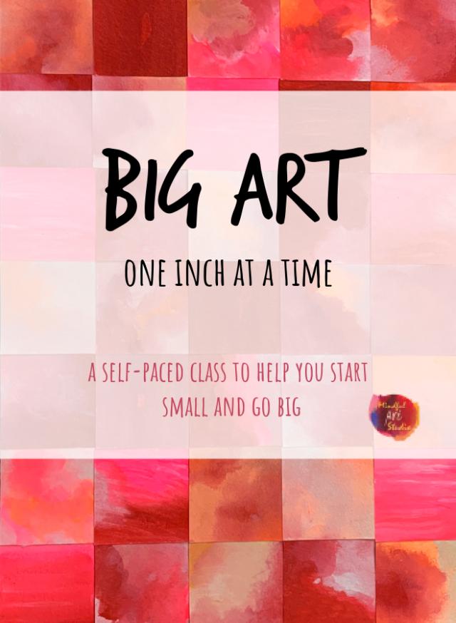 mixed media art class, tiny art class