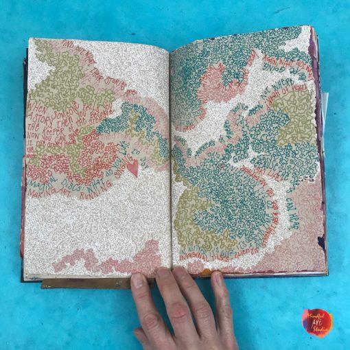 art journaling class, online art classes, online art journaling class