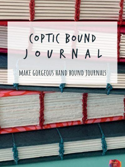 coptic bound journal, coptic binding, hand sewn journal, handmade journal