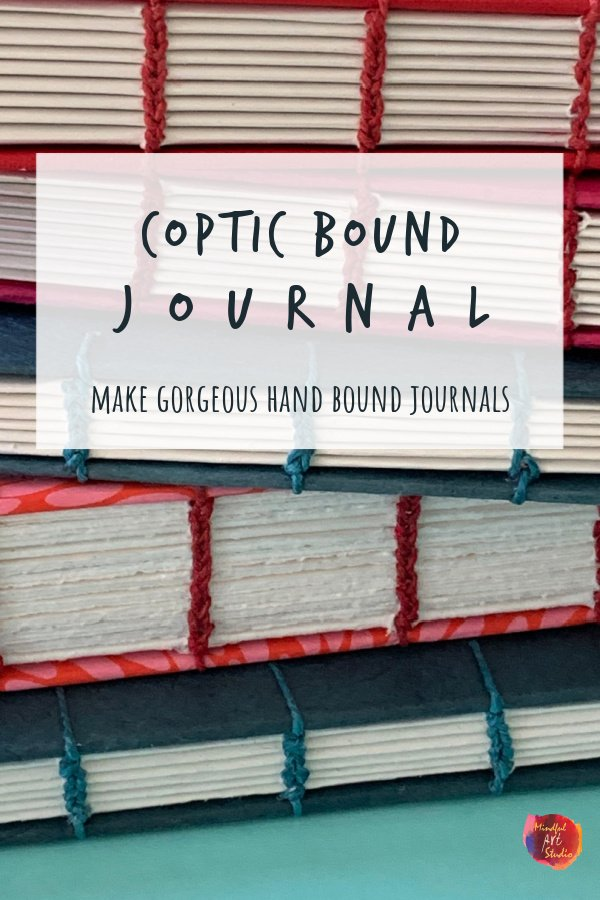 coptic bound journal, coptic binding, hand sewn journal, handmade journal
