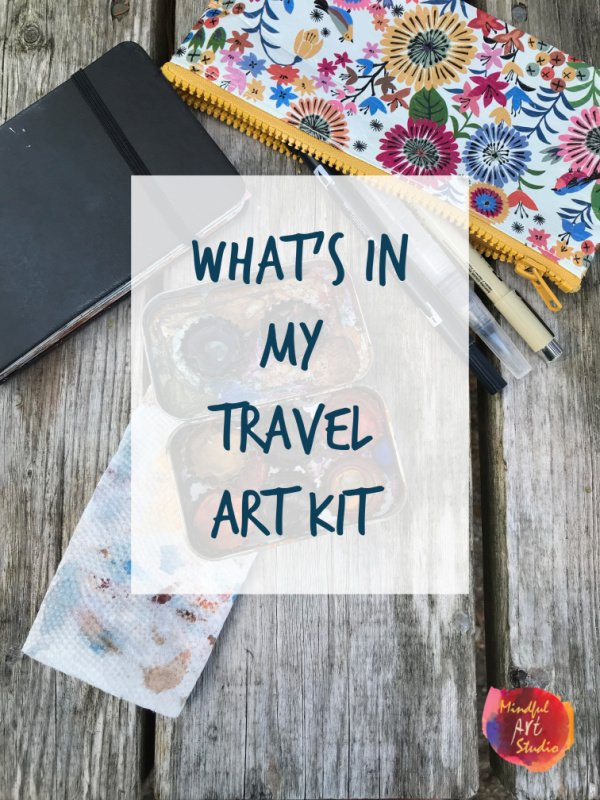 What's In My Travel Art Kit