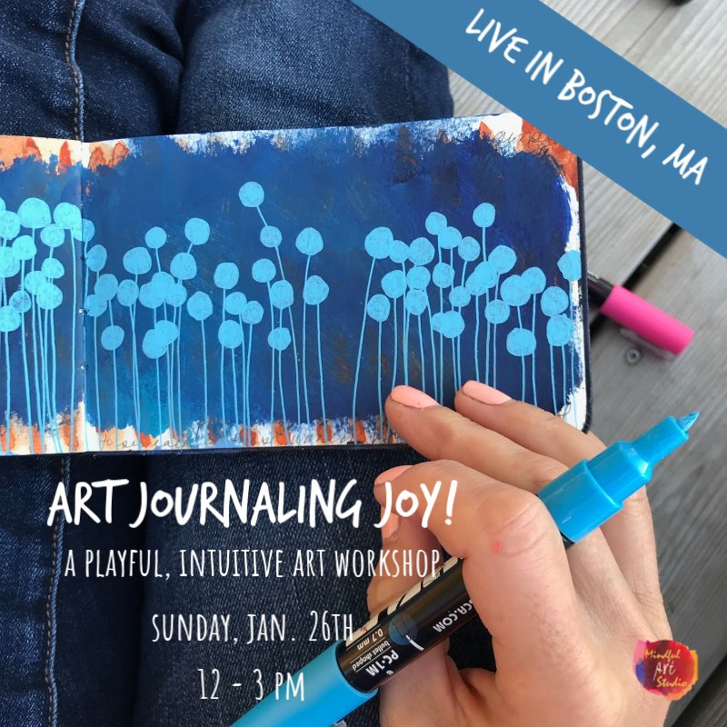 art journaling class, art journaling class Boston, art classes Boston