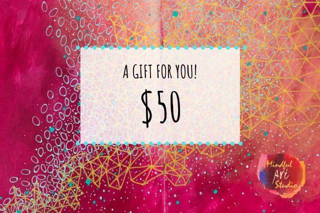 Gift Certificate online art class