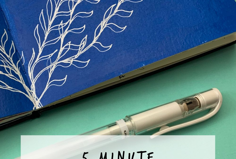 5 Minute Acrylic Art Journal Page