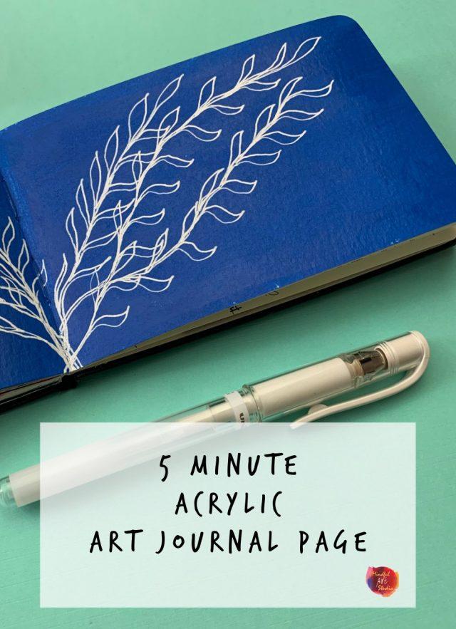 painted art journal page ideas, online art journal class