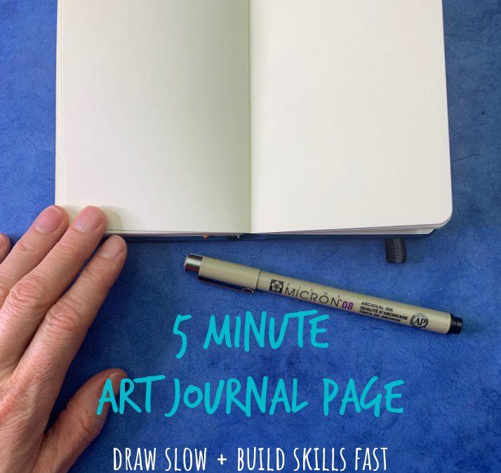 5 Minute Art Journal Page in Pen