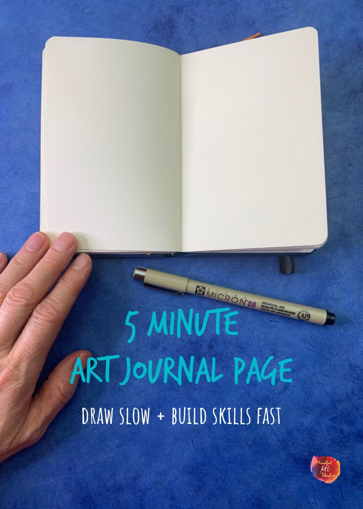 5 Minute Art Journal Page