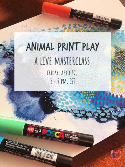 fluid art online class, online high flow acrylic paint class
