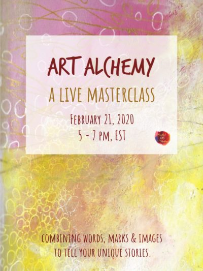 mixed media art journaling class, online mixed media class