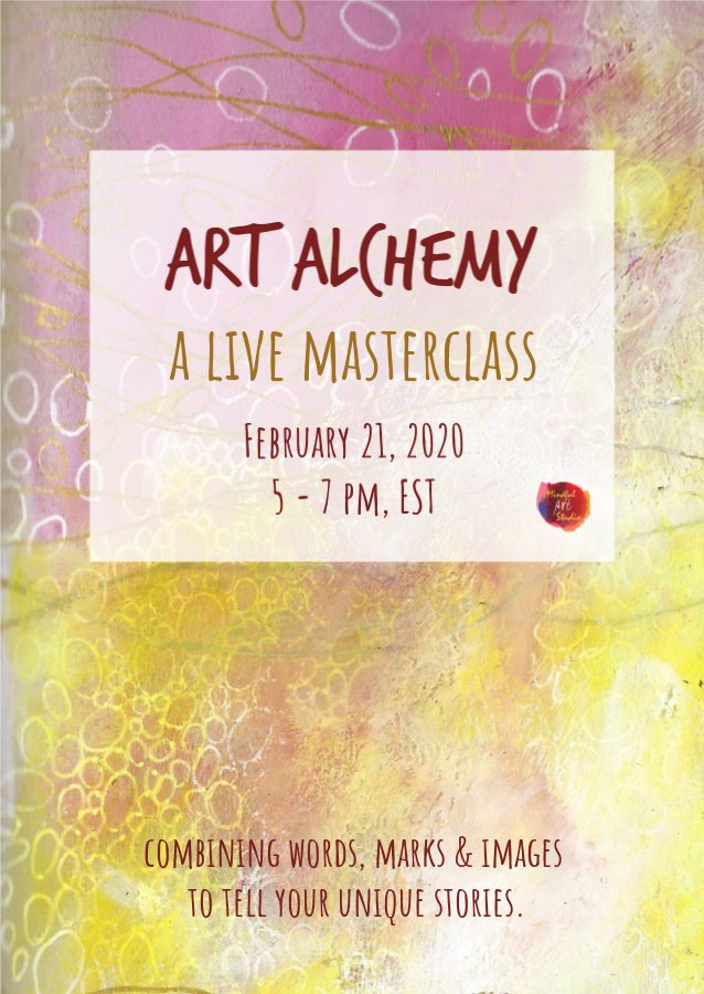 mixed media art journaling class, online mixed media class