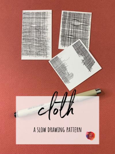slow drawing class, meditative art