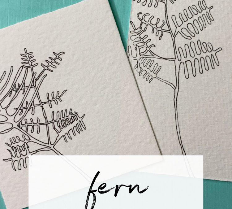 Fern: A Mindful Drawing Pattern