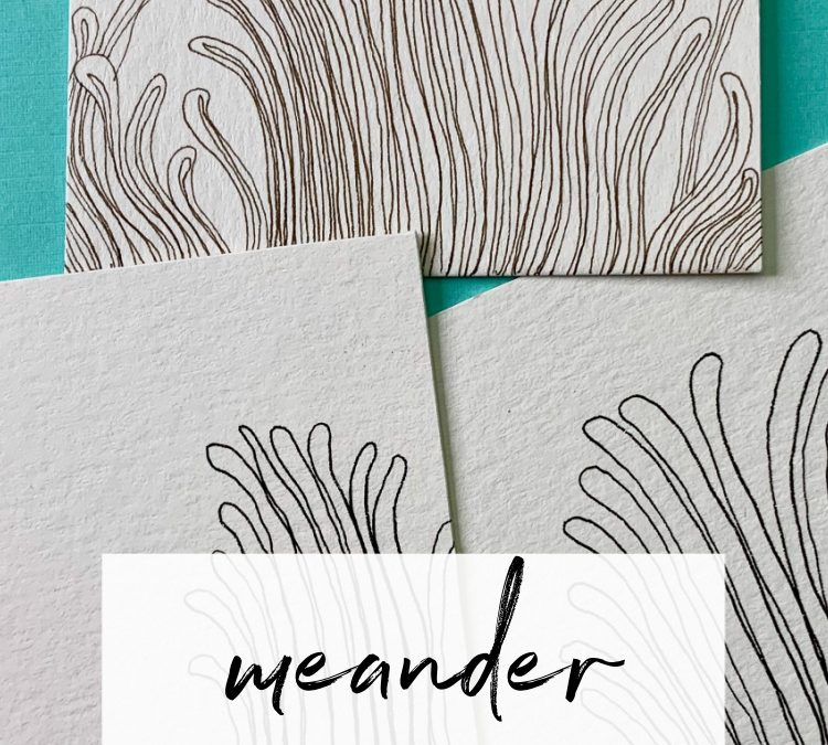 Meander: A Mindful Drawing Pattern