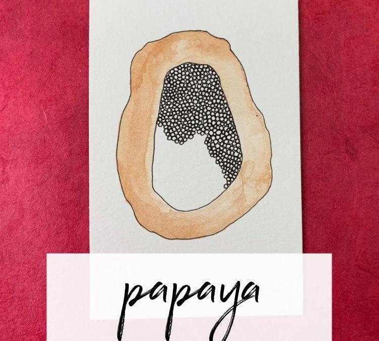 Papaya: A Mindful Drawing Pattern