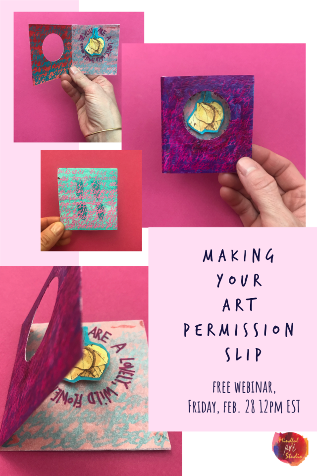 art permission slip, permission to create, inner critic