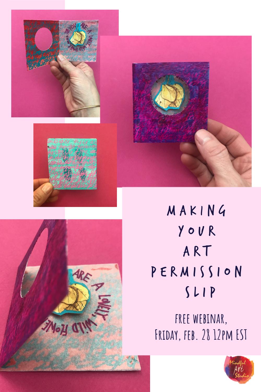 art permission slip, permission to create, inner critic