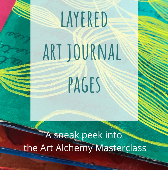 Layered Art Journal Pages