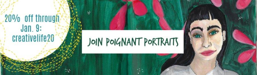portrait class, contour drawing, online portrait class