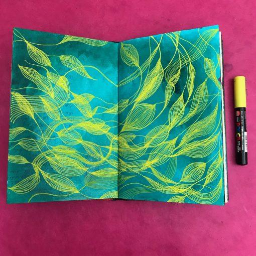 mixed media art journal class
