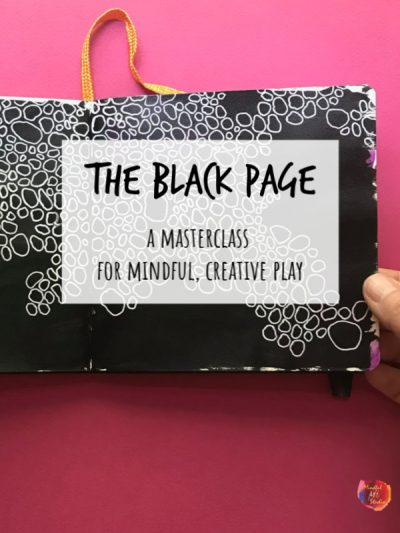 black page art journals