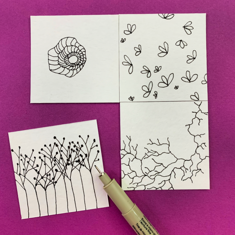 Dot drawing techniques