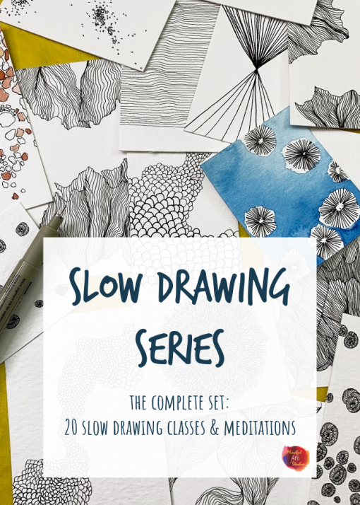 slow drawing ideas, slow drawing classes
