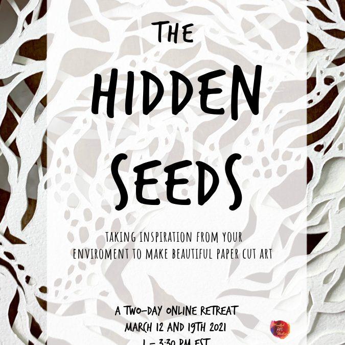 Hidden Seeds: Organic Paper Cut Art Journal