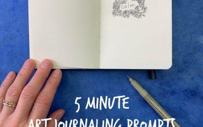5 Minute Art Journaling Prompts