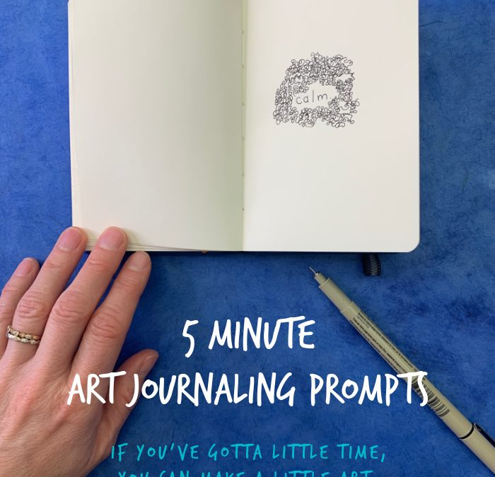 5 Minute Art Journaling Prompts