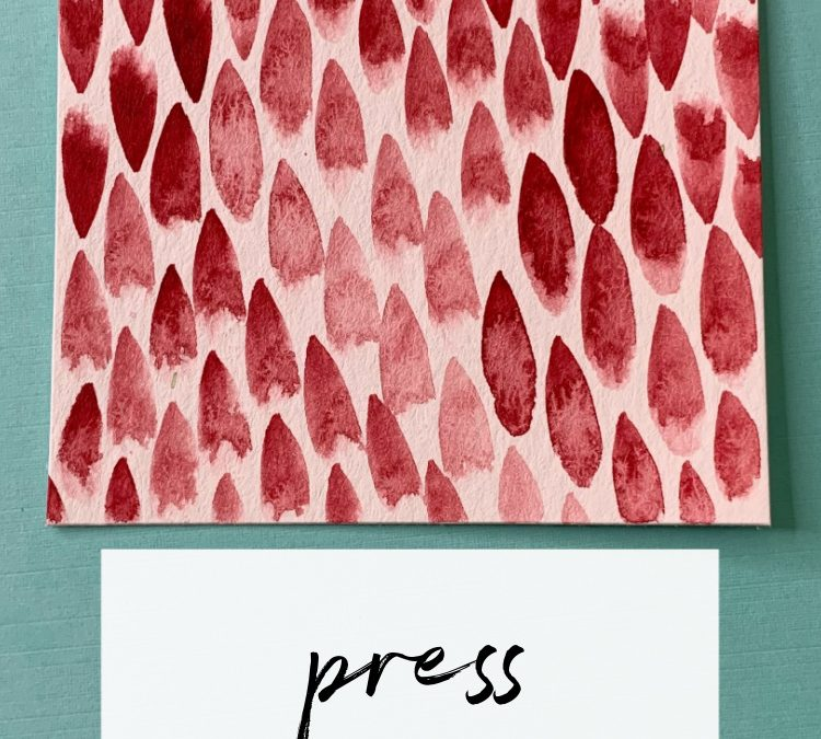 Press: A Slow Painting Pattern