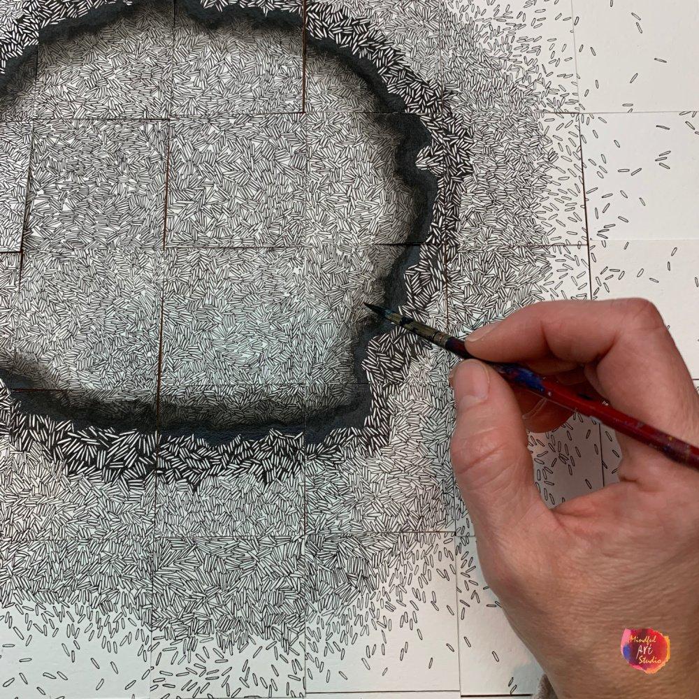 slow drawing patterns